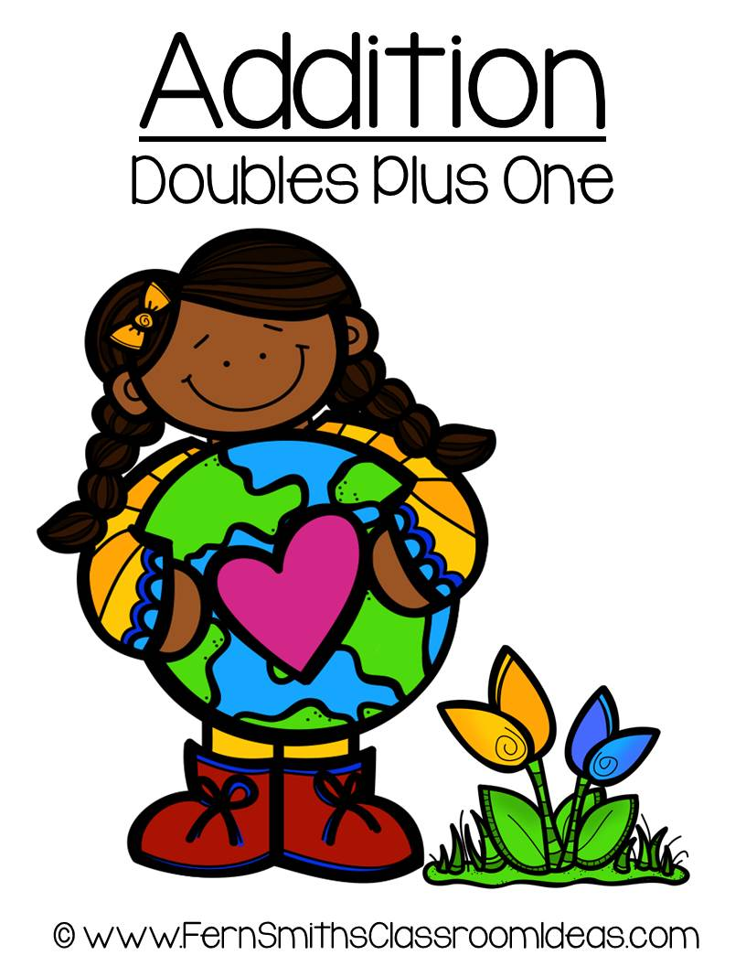 Earth Day - Addition Doubles Plus One Center Game
