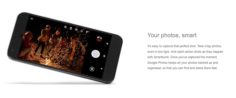 Camera interface of Pixel phones