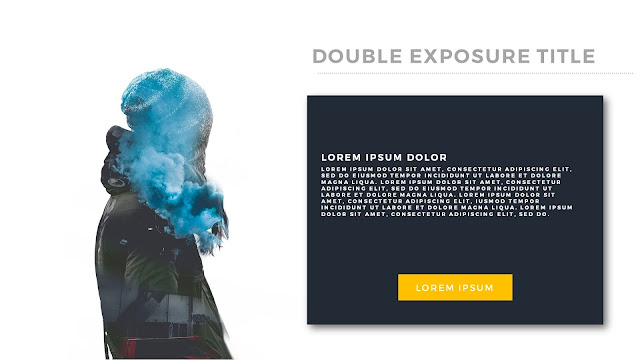 Double Exposure Photo Effects in Powerpoint slide2