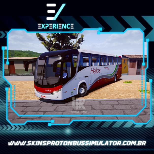 Skins Proton Bus Simulator Road - Comil Invictus MB O-500 RS Helios Coletivos e Cargas
