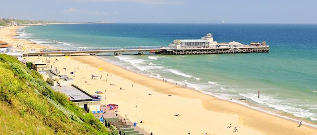 Praia Bournemouth em Londres