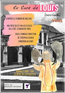 adaptation theatre Le curé de Tours Balzac CDNT