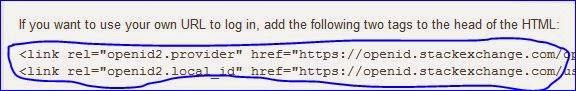 Cara memasang kode openid di HTML
