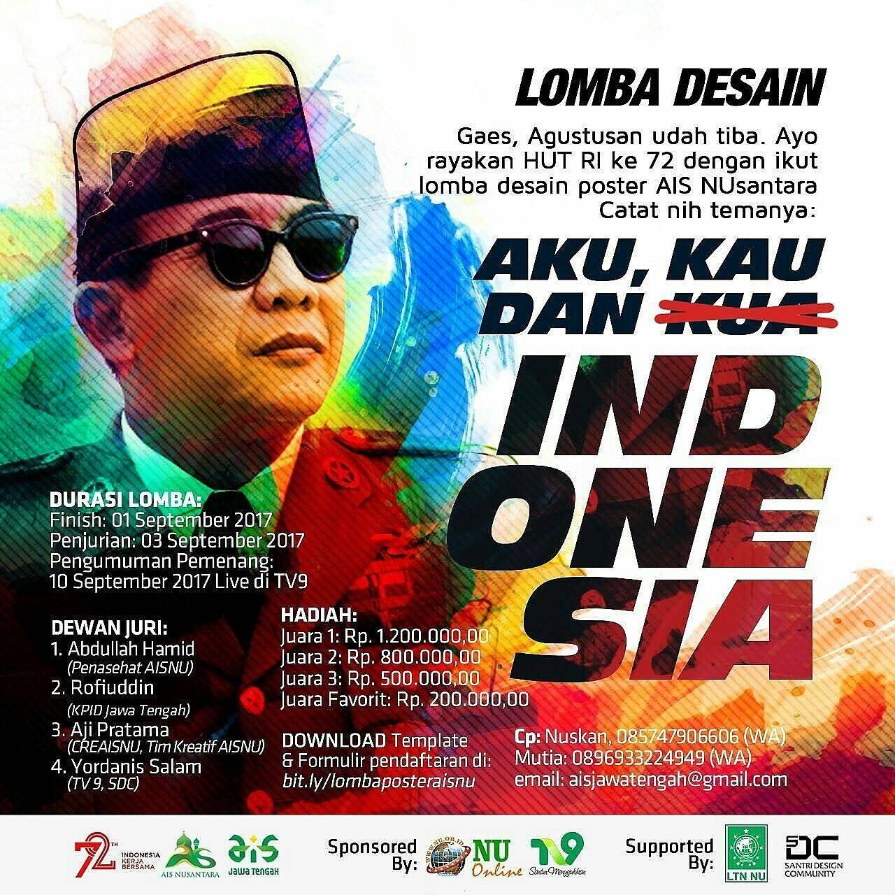 Lomba Poster Kemerdekaan Nasional 2017 Gratis Ais Nusantara