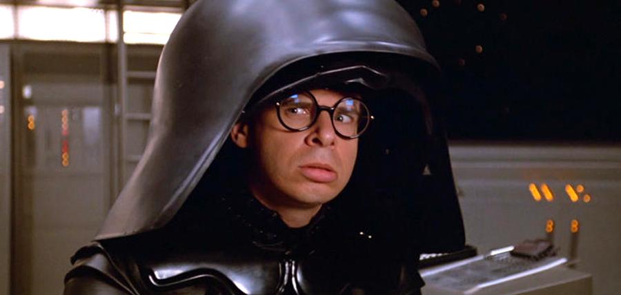 Rick Moranis în rolul Dark Helmeth din filmul Spaceballs