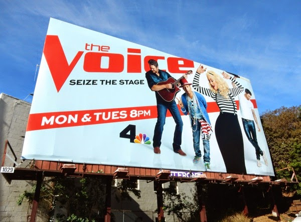 The Voice season 8 Seize the stage billboard