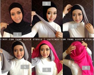 Model hijab untuk wisuda yang keenam