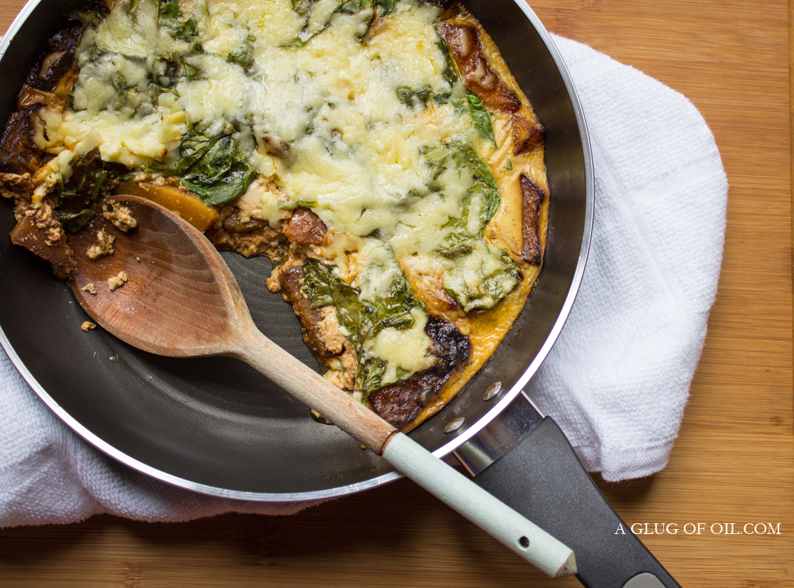 Butternut Sweet Potato and Spinach Bake