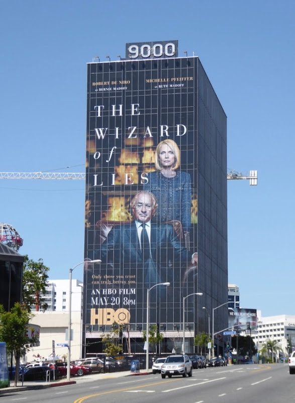Wizard of Lies giant HBO billboard Sunset Strip
