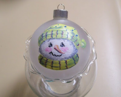 Painted Christmas Snowman Ornament 1 of 2