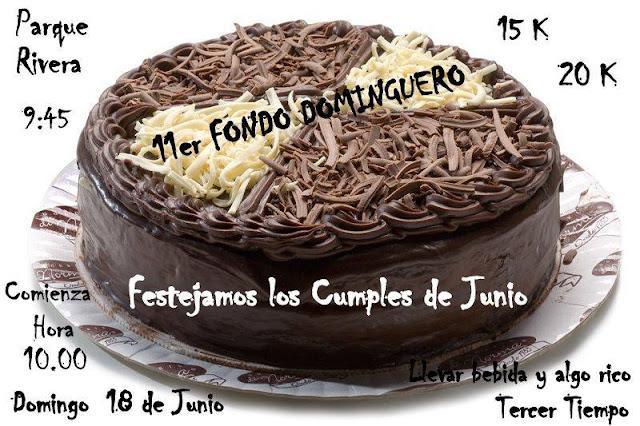 15k - 20k Fondo dominguero cumpleañero en parque Rivera (Montevideo, 18/jun/2017)