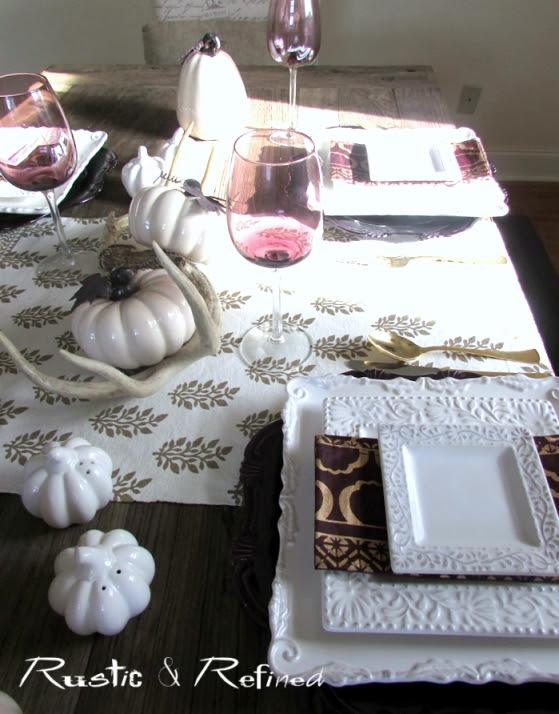 Brightly Colored Fall Tablescape