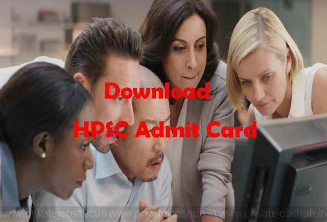 HPSC Admit Card