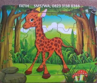 Game Puzzle Kayu Jerapah