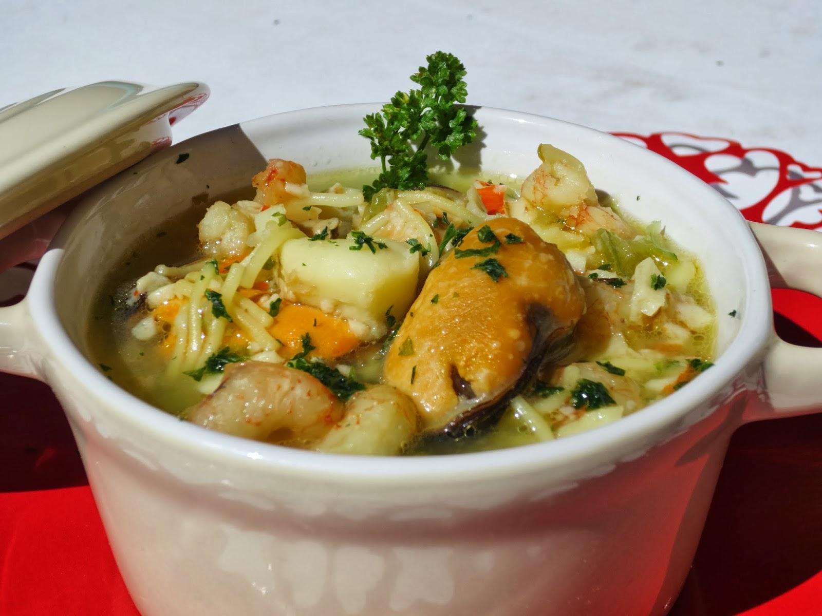 sopa pescado dieta thermomix