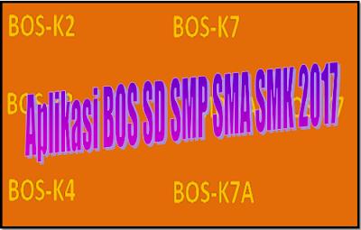 Aplikasi BOS SD SMP SMA SMK 2017