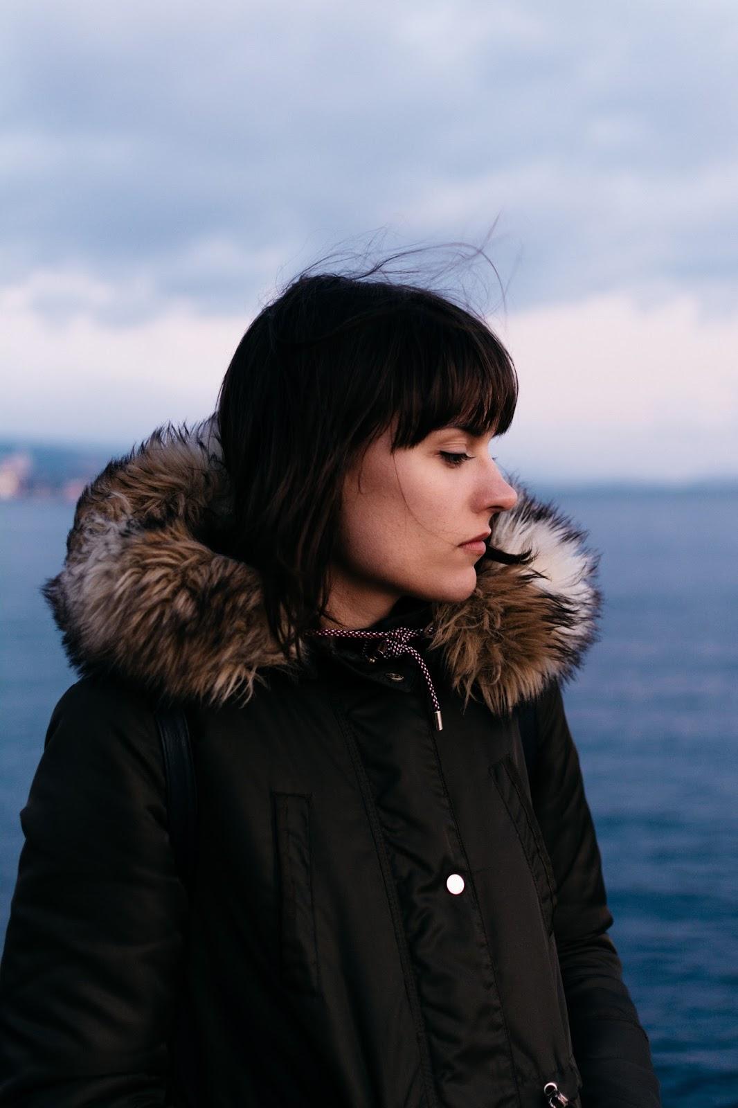 Ana portrait in wind