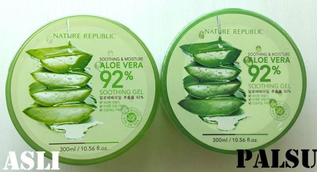 Kemasan Nature Republic Aloe Vera Asli VS Palsu