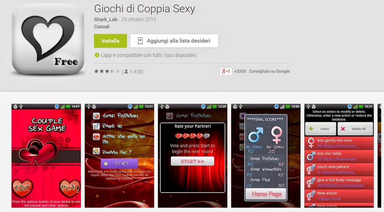 giochi erotici femminili sito incontri italiano