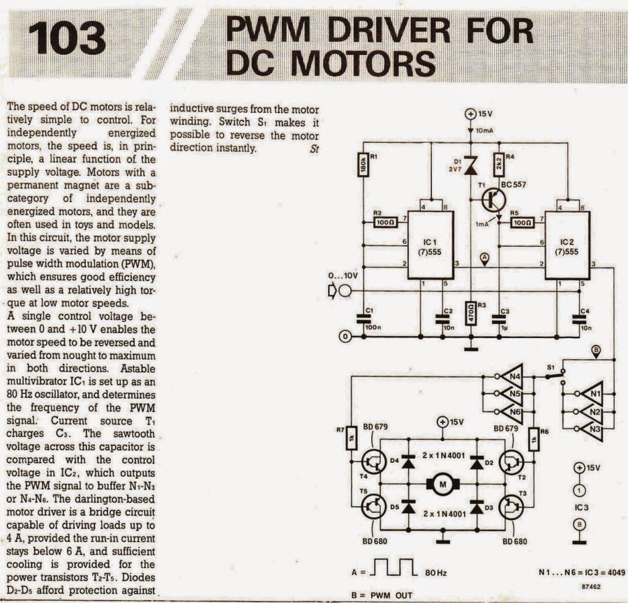 PWM Motor Speed Controller Circuit Using IC 555