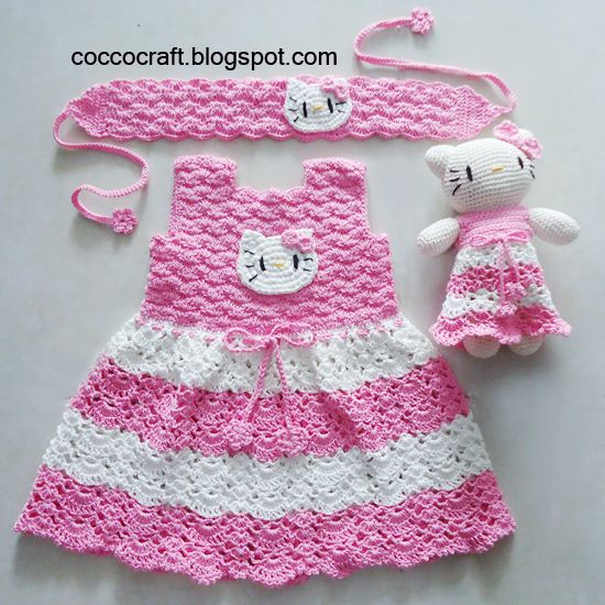 Hello Kitty Dress Matching Amigurumi-FREE PATTERN