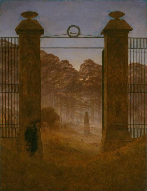 Caspar David Friedrich - Entrada al cementerio - 1825