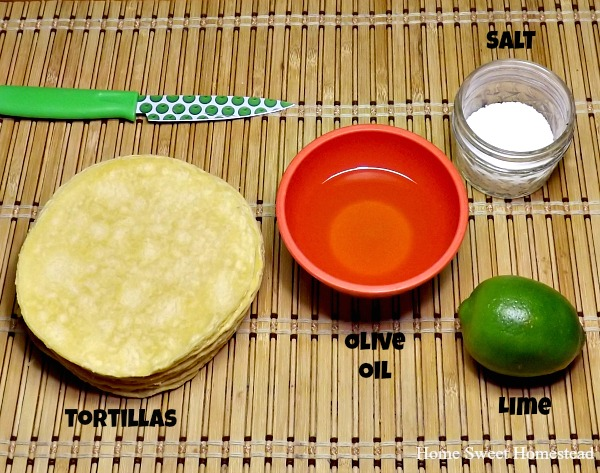 Lime Tortilla Chips Ingredients - Home Sweet Homestead