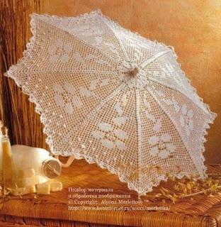 wzory parasolek szydełkowych
