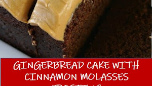 #recipe #food #drink #delicious #family #Gingerbread #Cake #with #Cinnamon #Molasses #Frosting