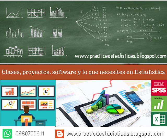 Clases - Tutorías - Proyectos - Estadística.