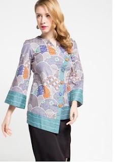 Model Baju Batik Kerja Elegan