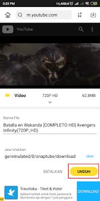 Cara Download Video Youtube Di Android Dengan Cepat