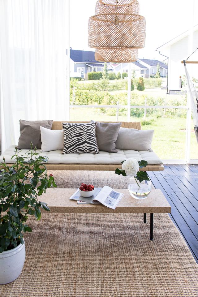 Villa H, classic collection, zebra tyyny, Ikea sinnerlig, korkkipöytä