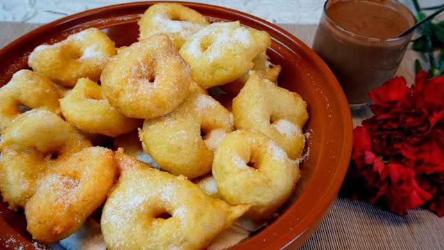 Buñuelos de patata y boniato- bunyols de ses verges