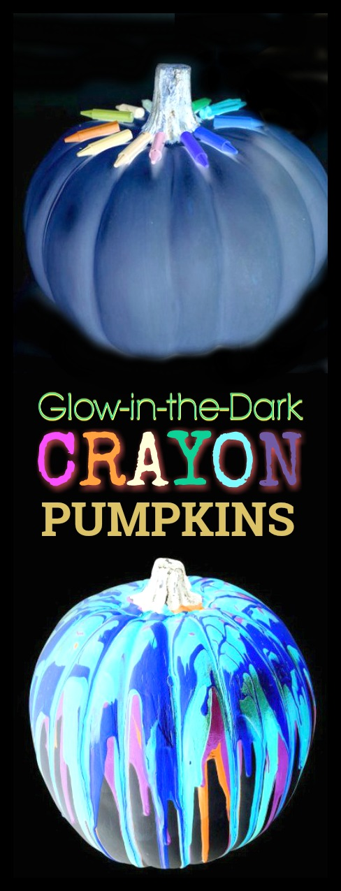 FUN KID PROJECT:  Decorate glow-in-the-dark pumpkins!  How cool!