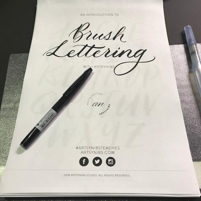 Artsynibs Brush Lettering Workshop