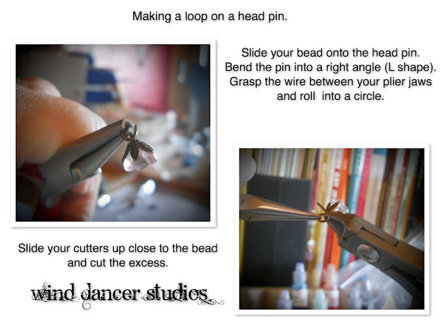 Making a loop on a Head pin, WindDancer Studios, free tutorial