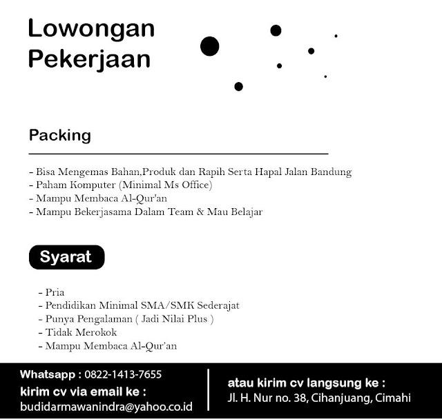 Lowongan Kerja Packing Bandung / Cimahi
