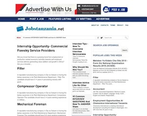 Jobstanzania.Net -  Redefines online recruitment in Tanzania