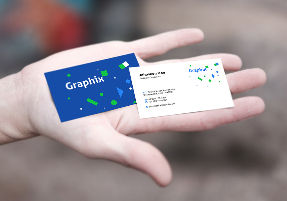 Clean and Professional free Business Card Mockup in Hand, free business card mockup