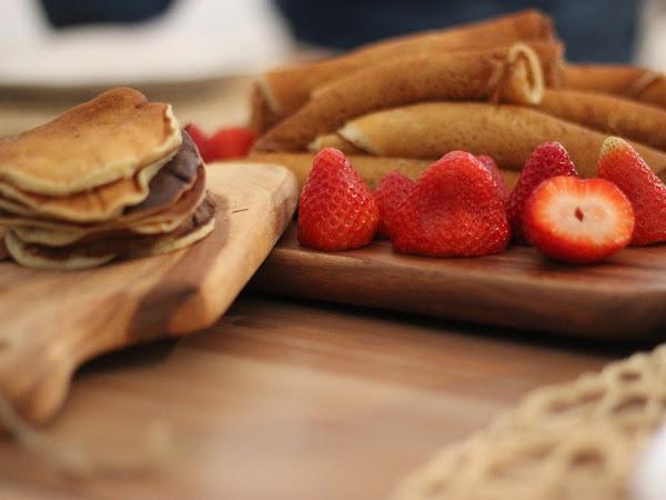 Una merenda dolcissima con le Crepes alla Nutella e frutta