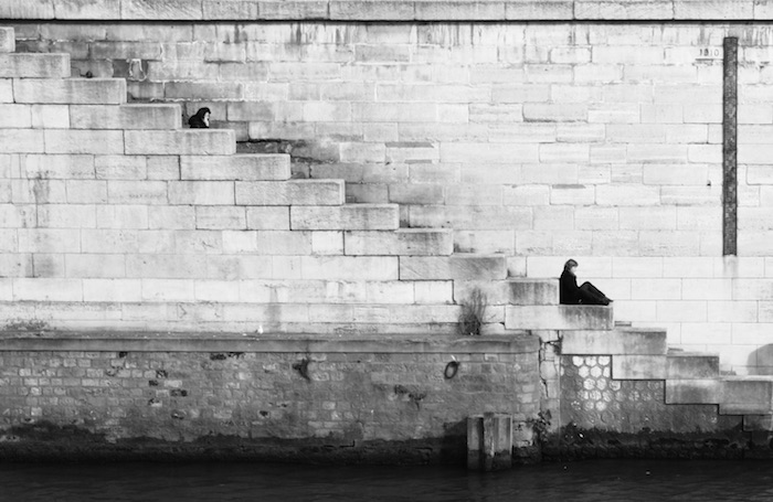 Why You Should Step Out of Your Comfort Zone | Morgan's Milieu: Black and white, moody photo of a loner.