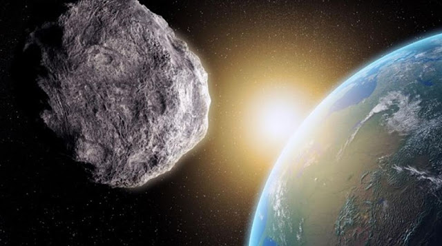 Ilustrasi Asteroid Mendekati Bumi