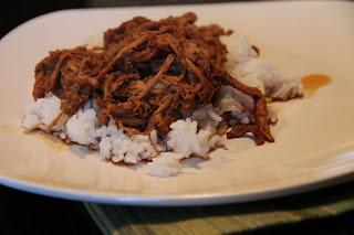 shredded char siu pork over rice