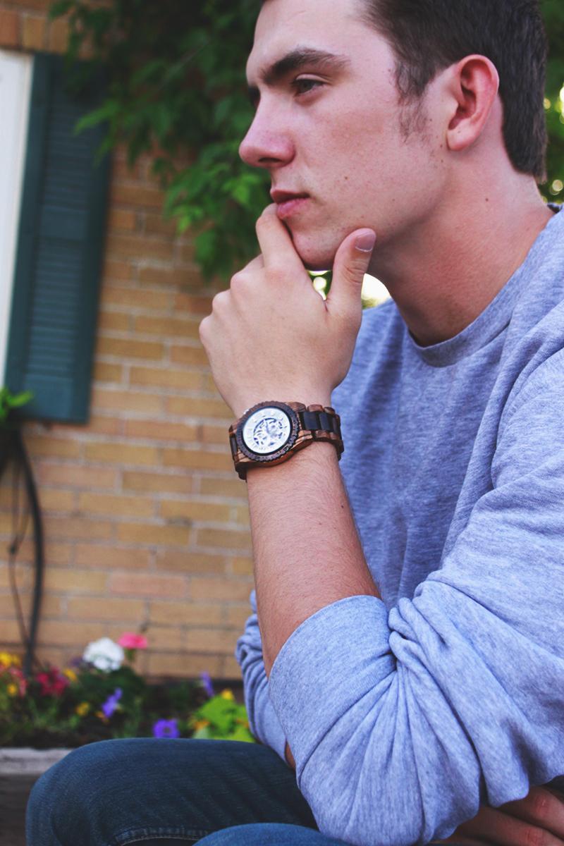 fashion blogger, jord, wood watch