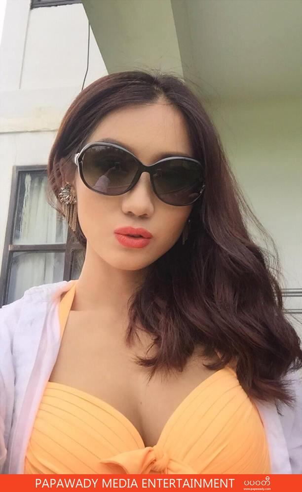 Lu Lu Aung Shows Off Her Fasion Beauty in Bikini Swimsuit At Chaung Thar Beach