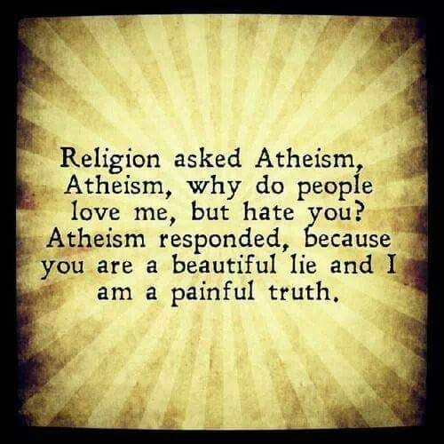 Religion Asked Atheism Quote Picture
