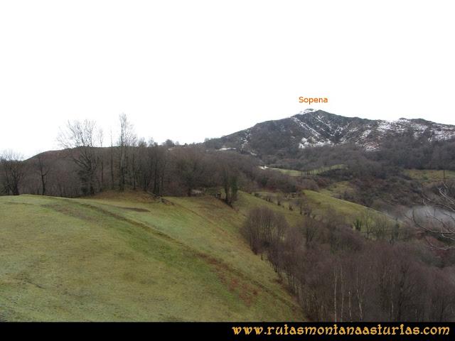 Pico Ranero: Vista del pico Sopena