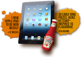 heinz - CONTEST - [ENDED] Win iPad & Heinz Ketchup-Inspired Flashdrive!