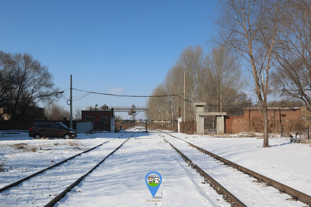 Former site of small animals underground breeding area and storage room for assemble and bacteria bomb are situated behind the gate of the railway tracks at Unit 731 Museum in Harbin, China